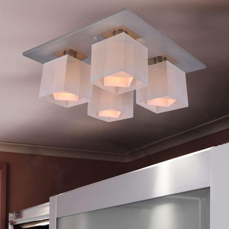 蒙特丽灯饰meaterli现代简约玻璃吸顶灯卧室餐厅厨房灯4头钢罩灯具图片