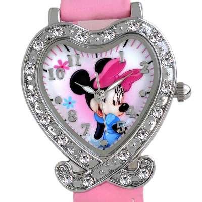 disney迪士尼可爱卡通儿童学生手表 心形白雪公主 (商品编号