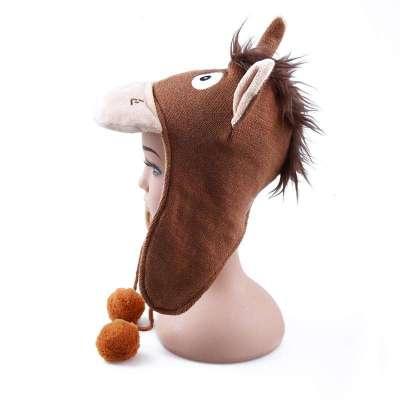 2013秋冬新款男童动物造型帽子加厚保暖