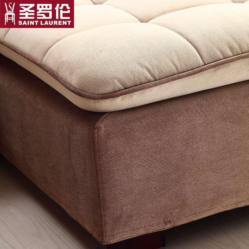圣罗伦 布艺沙发 组合 客厅家具 欧式现代简约 休闲沙发 转角沙发