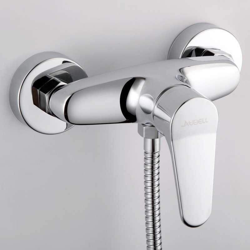 欧贝尔卫浴 全铜单把冷热混合阀 淋浴龙头花洒套装 img-08024图片