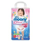 Moony婴儿裤型纸尿裤女L44片