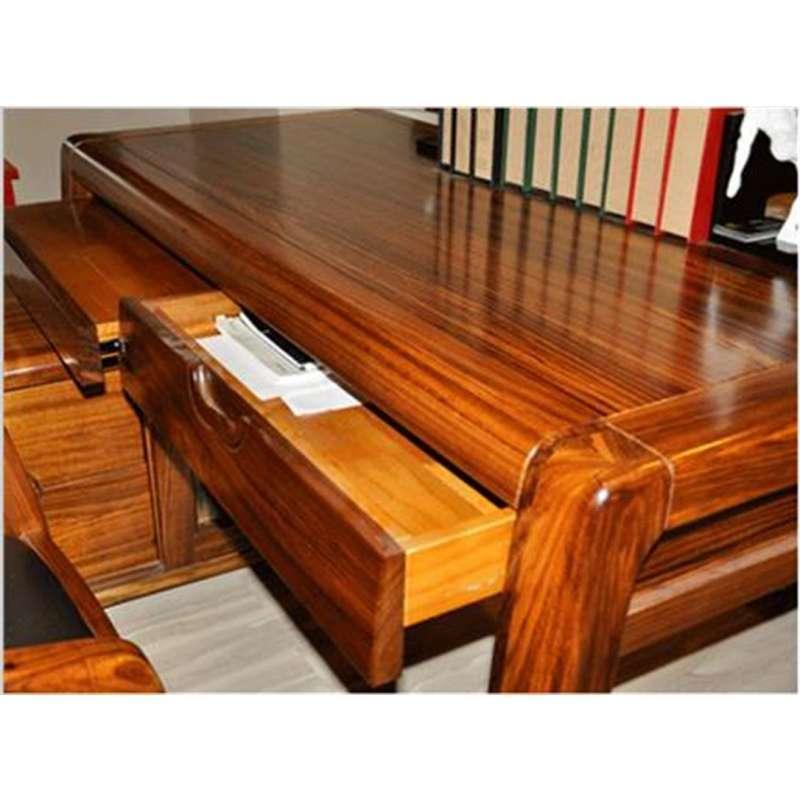 【惠宜】惠宜乌金木家具全实木书台现代中式书桌大