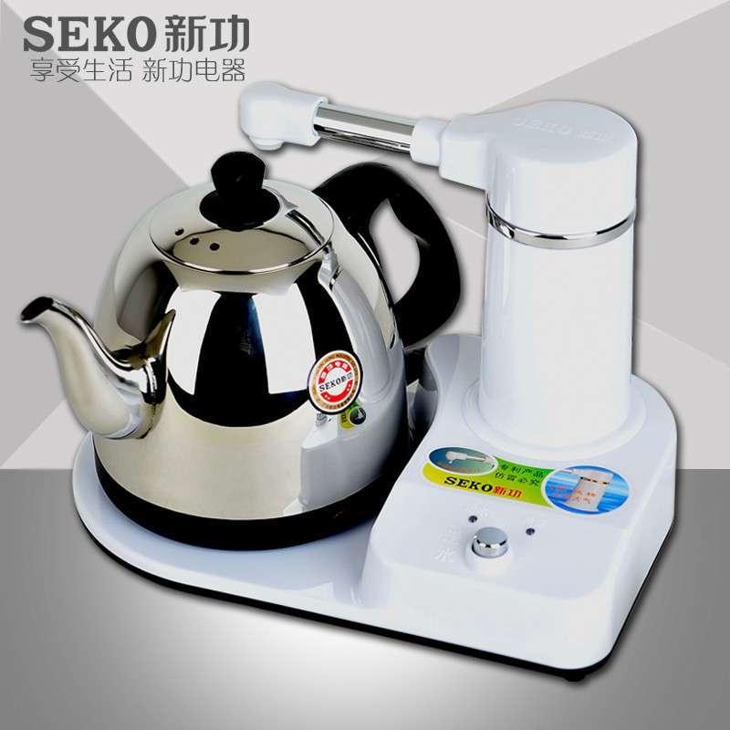 seko/新功s4电热水壶电热茶炉自动上水不锈钢电水壶