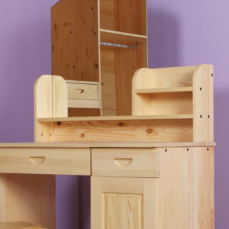 松香门第 松木小户型梳妆台实木梳妆柜化妆柜化妆桌 宜家简易收纳桌
