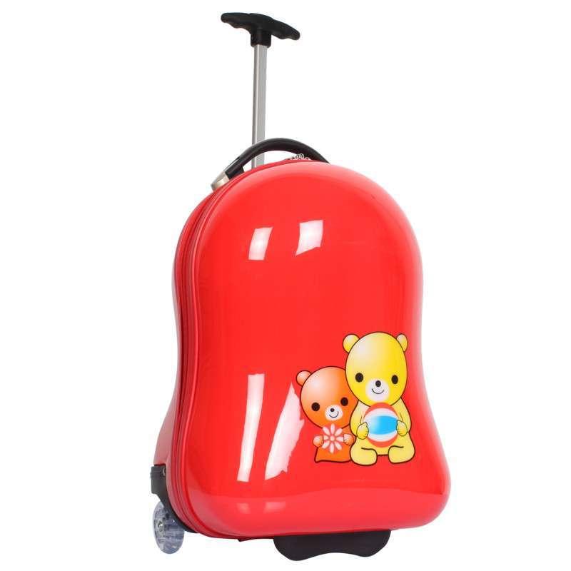 amlenker儿童拉杆箱旅行箱16寸绿色可爱行李箱镜面男女通用日本小箱子