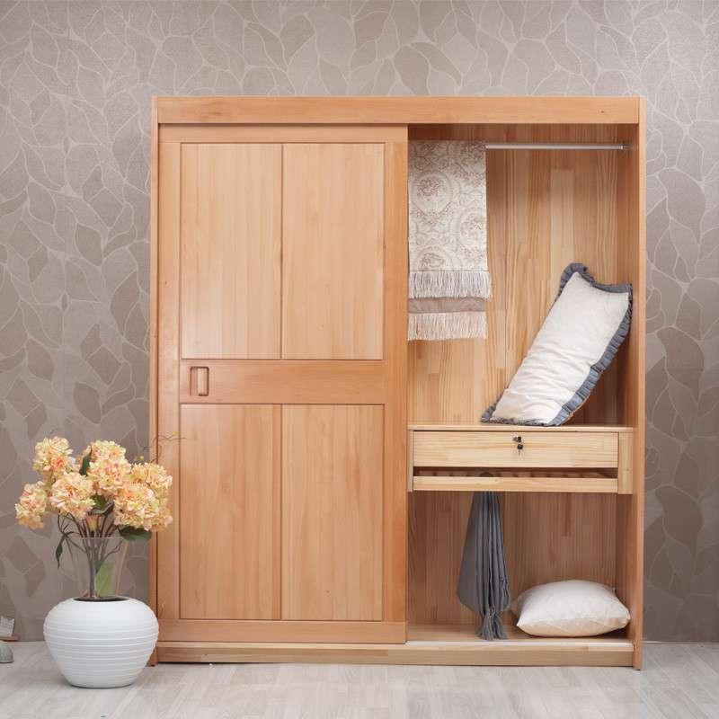 青島一木家具 實木衣柜櫸木衣櫥宜家推拉門衣柜 移門衣柜整體衣柜