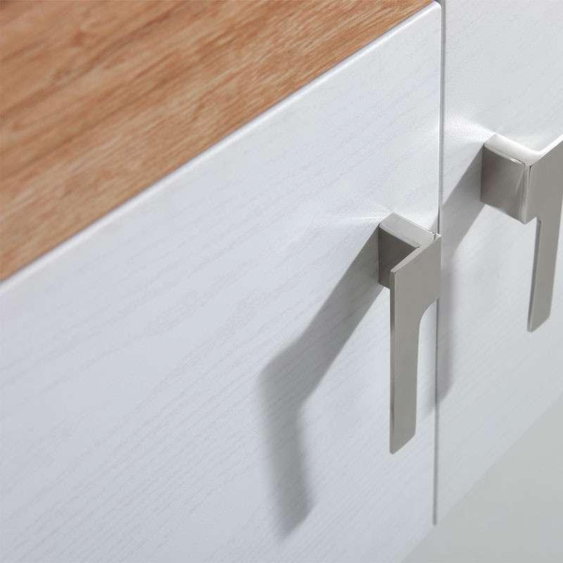 304不锈钢实木纹欧式浴室柜yg08黄橡木+白橡木纹