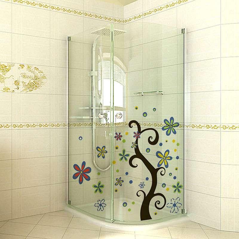 贝贝梦 浴室防水玻璃贴 客厅门贴纸画 环保彩绘贴 韩国进口st-3