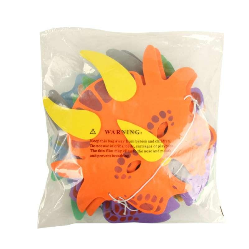 玩具 diy手工/绘画 过家家玩具 大贸商 六款恐龙面具 卡通动物 幼儿.