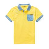 2014夏季男生POLO衫686225020143 黄色 130cm