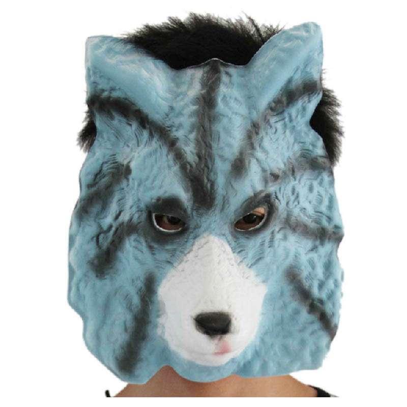 化妆舞会 动物表演装饰面具 泡沫软面具 狼面具