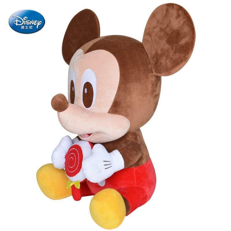 正版迪士尼 棒棒糖米奇可爱米老鼠公仔毛绒创意毛绒娃娃生日礼物