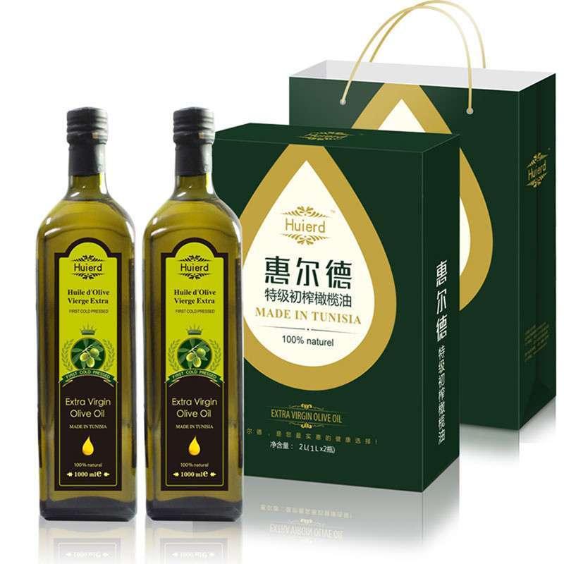 惠尔德特级初榨橄榄油精装 1l*2