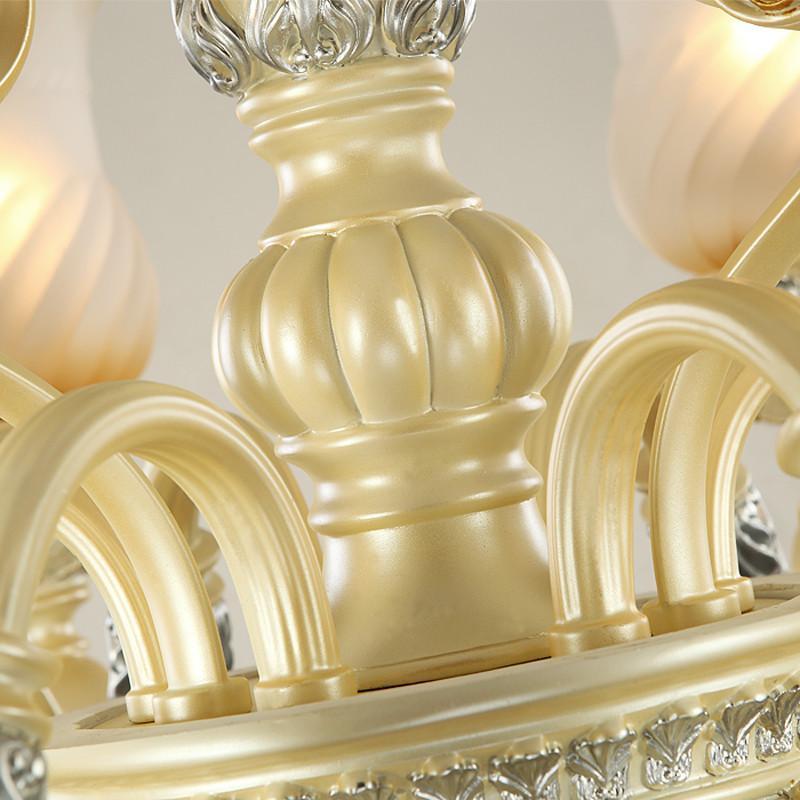 【世源家居】世源欧式吊灯奢华树脂客厅灯酒店别墅