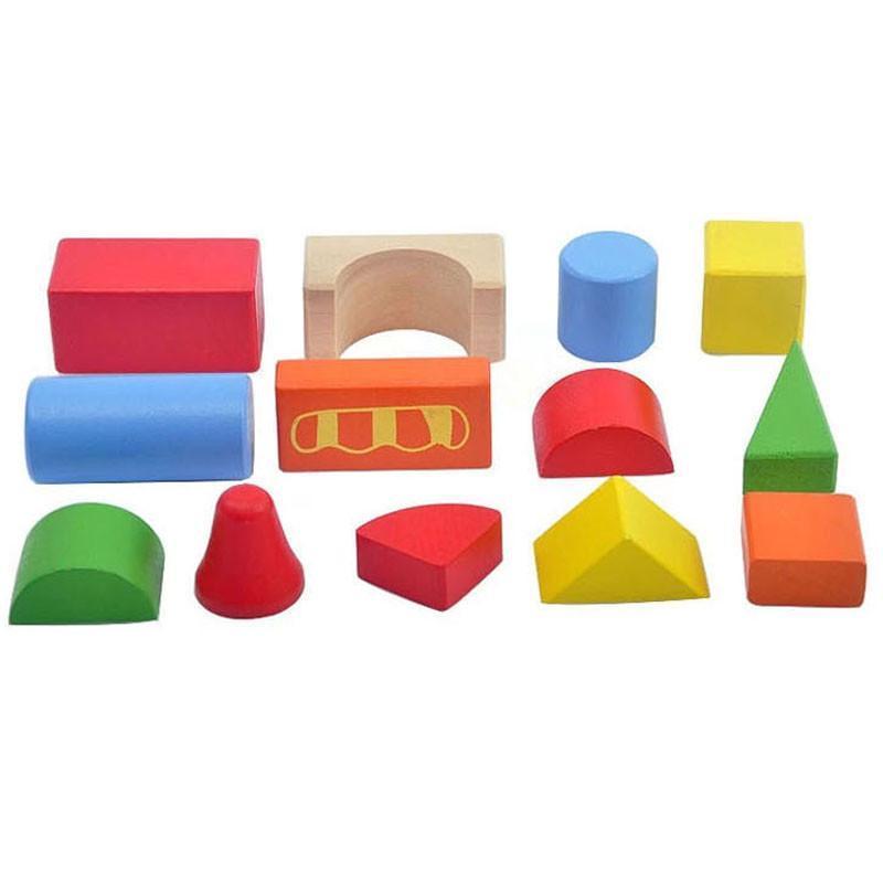 星邦儿童益智启蒙积木木质玩具 大块粒数字宝宝木头桶装积木木制 益智