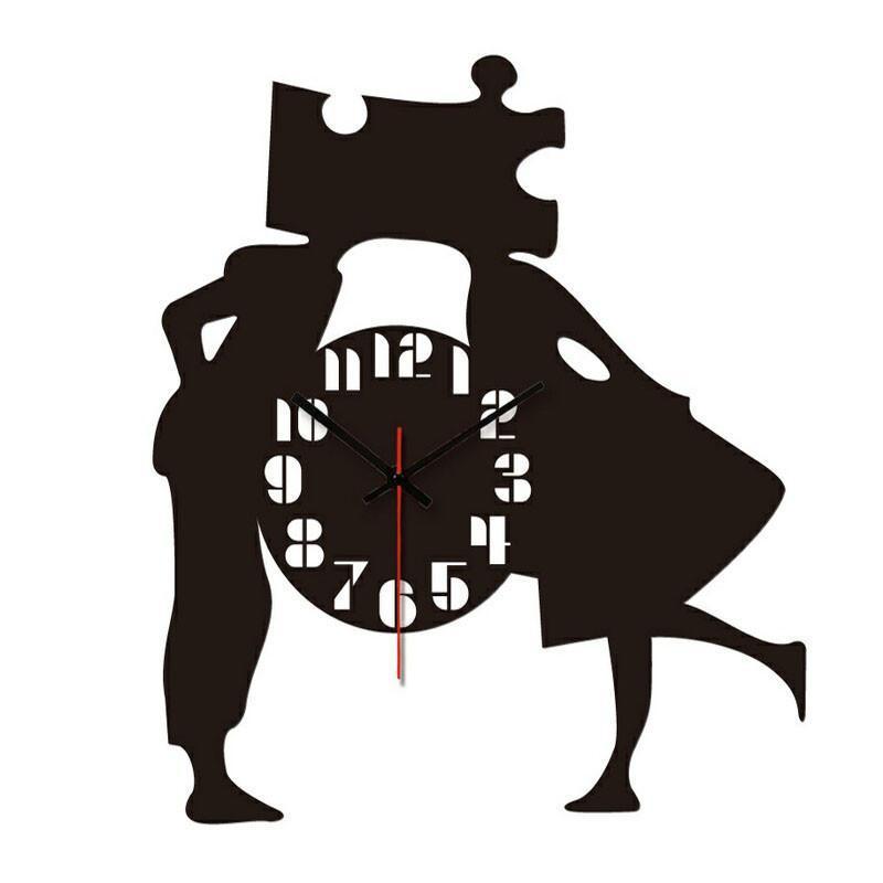 个性一百 情侣时钟edf2102订制时尚镂空挂钟创意亚克力时钟