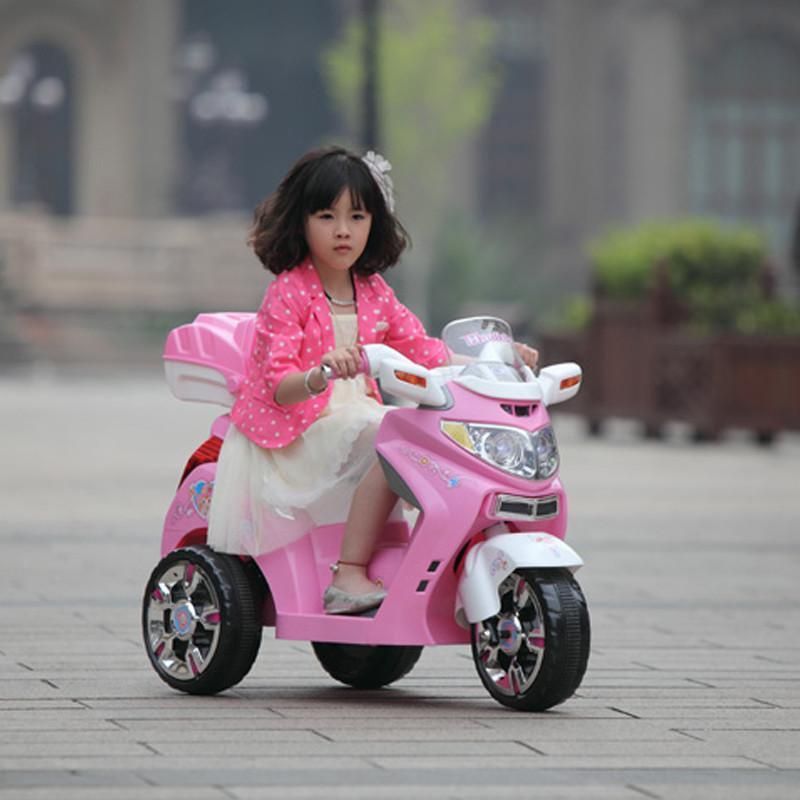 儿童电动车宝宝儿童电动摩托车踏板音乐电动三轮车