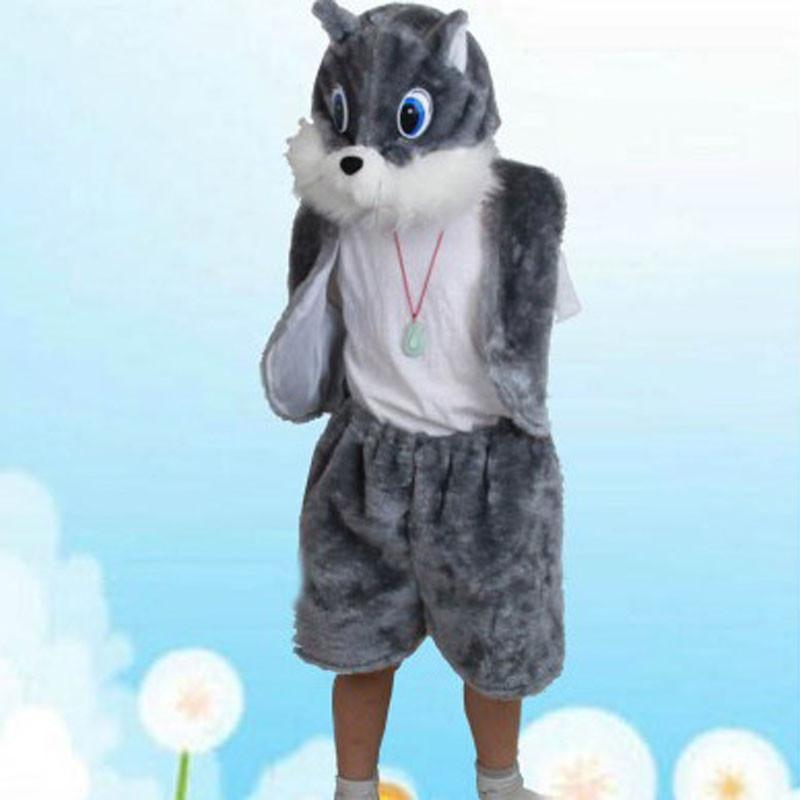 六一儿童节动物服装 动物表演服饰 质量超好 猫装扮衣服 灰猫服装