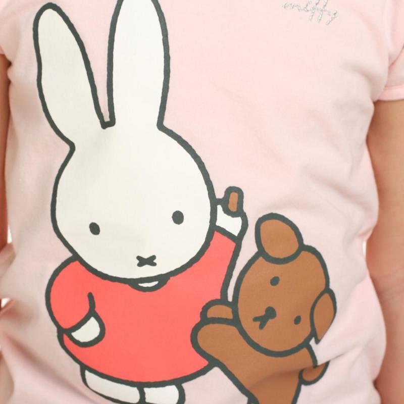 米菲(miffy)童装 女童可爱卡通动物系列短袖t恤 mg21a