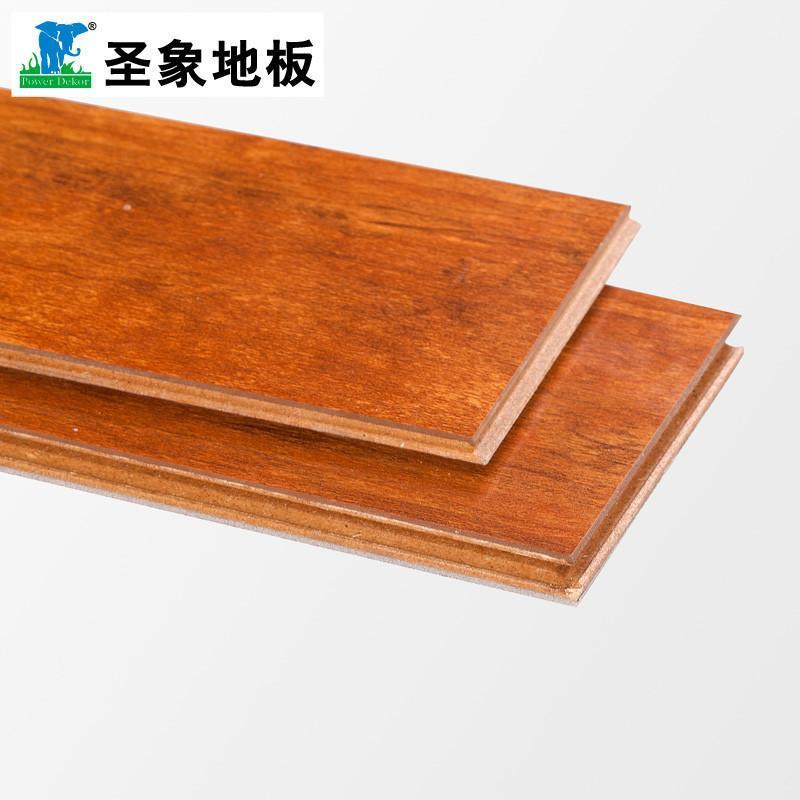 系列强化复合木地板n6281海洋樱桃2mm珍珠棉高光亮面