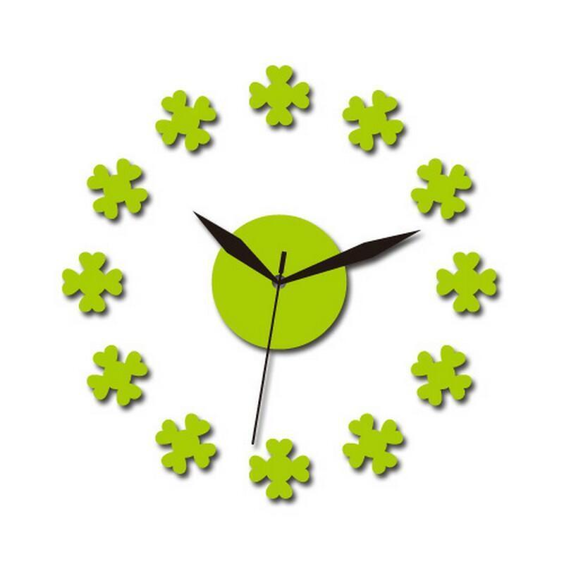 个性一百 爱心花瓣时钟fdc1304挂钟时尚创意静音个性钟表亚克力制钟图片