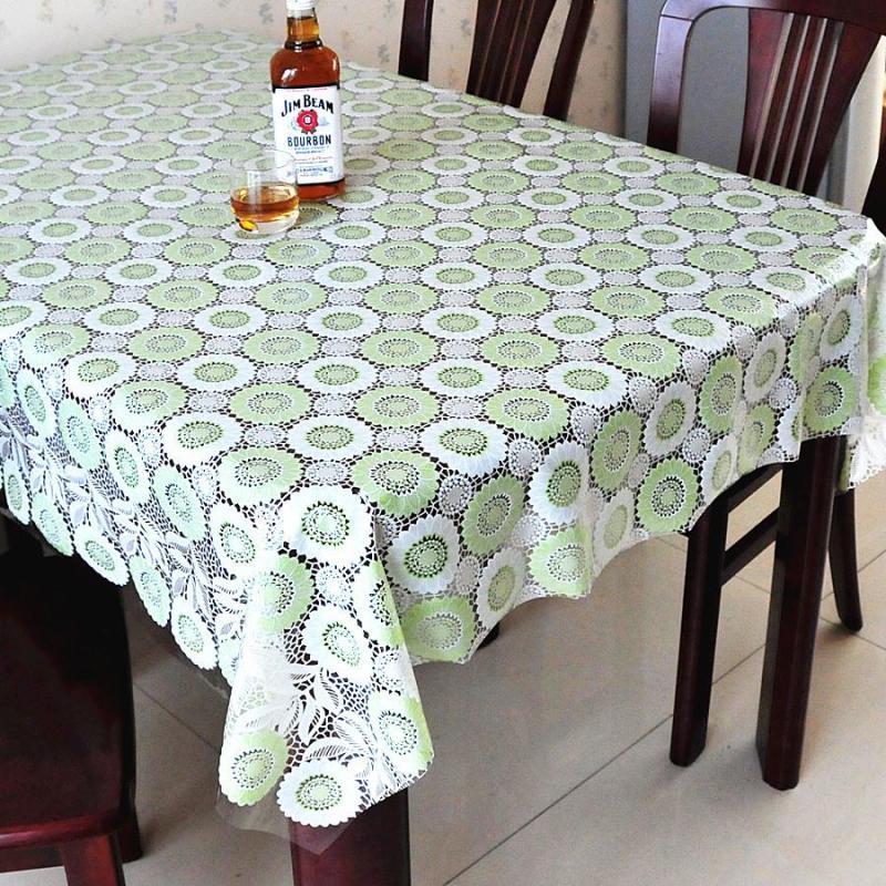 欧式田园pvc防水桌布免洗塑料餐桌布台布防油桌垫软
