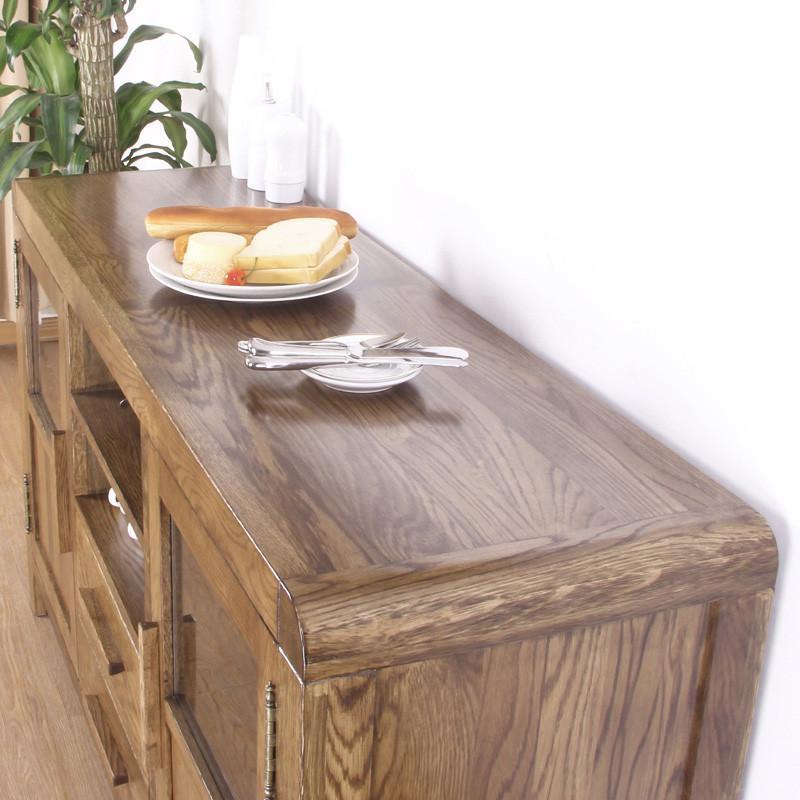 jbt/佳佰庭实木家具白橡木实木餐边柜橡木厅柜餐具柜碗柜sr33 仿古色
