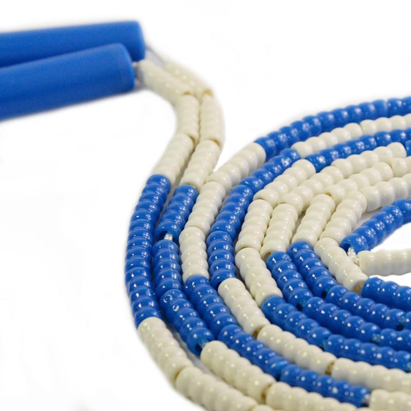 跃动正品新款 学生团体花样跳绳 花式竹节交互绳 珠节图片