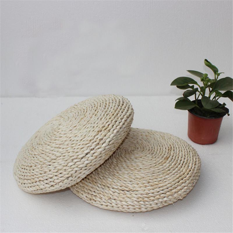 天然玉米皮纯手工编织坐垫