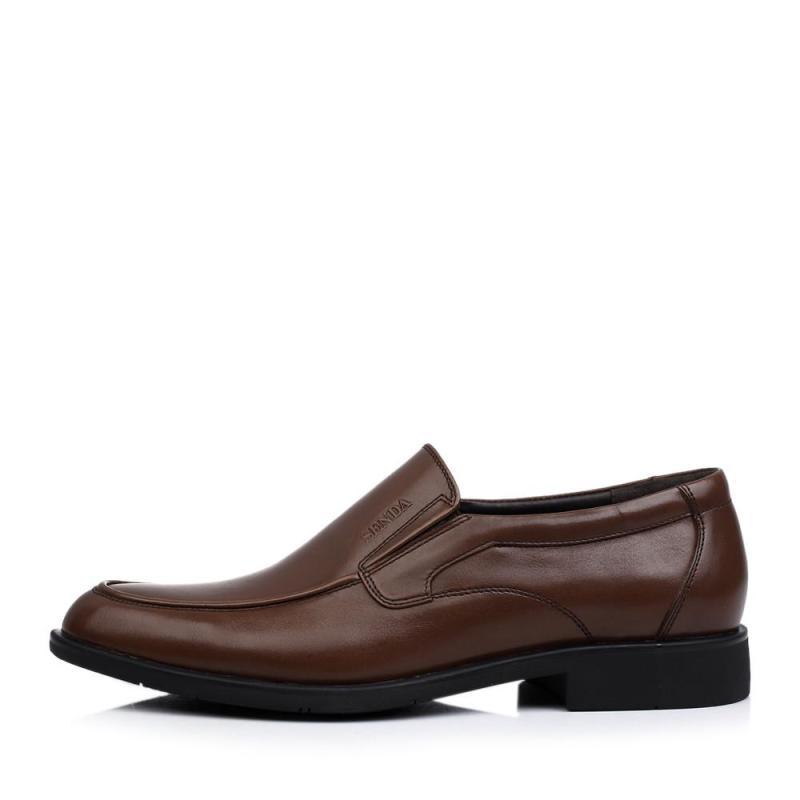 senda/森达棕色牛皮男单鞋商务男鞋婚鞋2014秋季86142