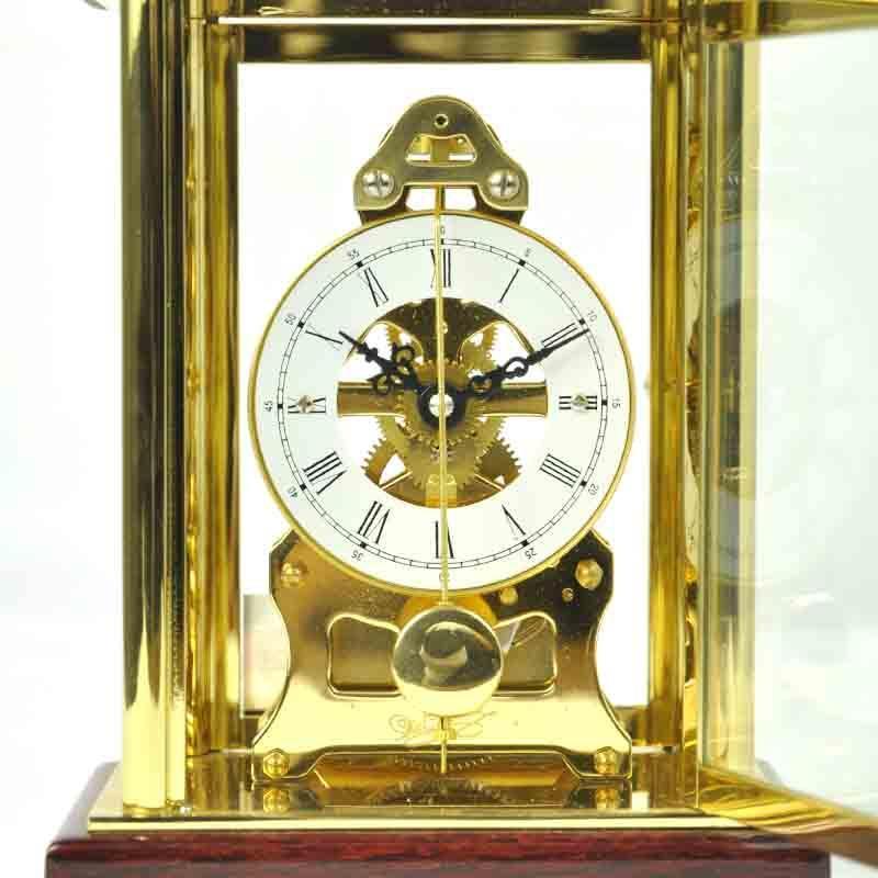 【北极星】北极星t503欧式古典实木金属台钟透视机械