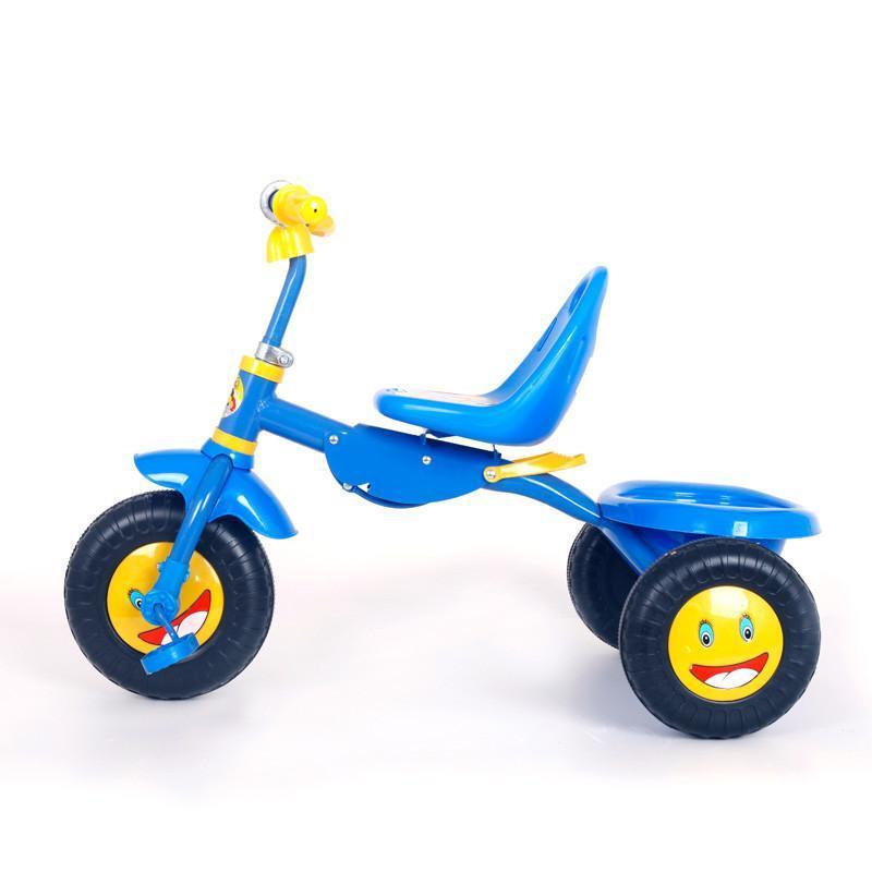 多宝爱 儿童三轮车 宝宝脚踏车 加大轮胎简易折叠自行车 天蓝色
