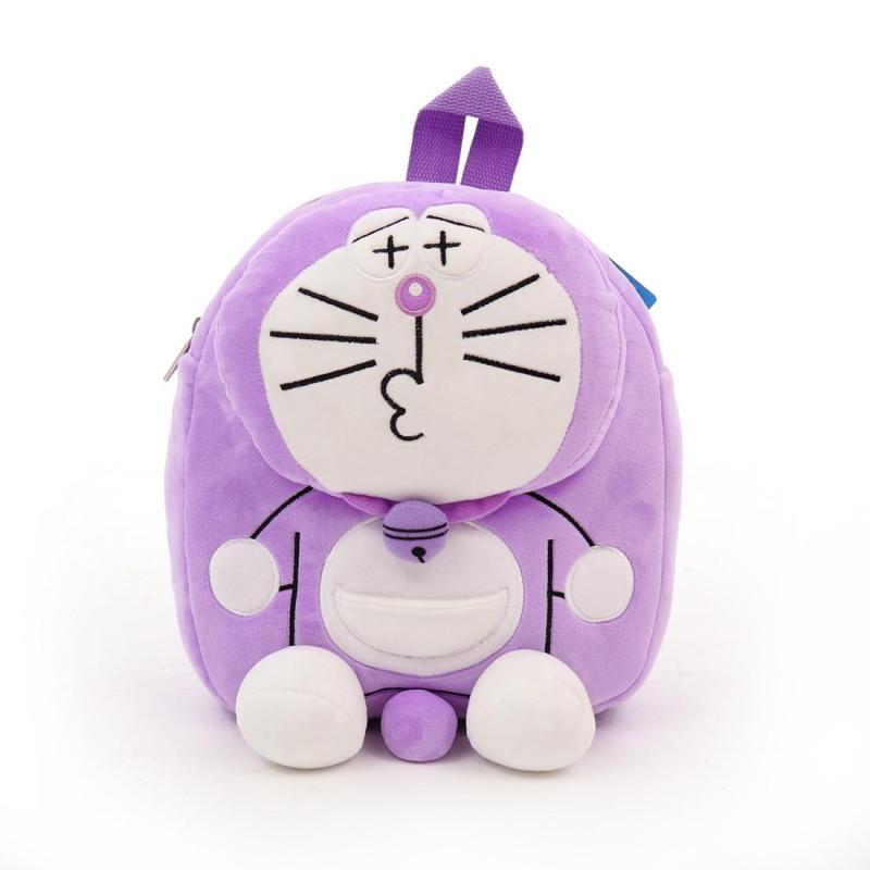 男女童幼儿园中小班宝宝双肩背包哆啦a梦紫色书包