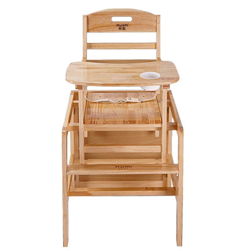 环保免漆实木儿童吃饭餐桌椅婴儿餐椅超宽宝宝