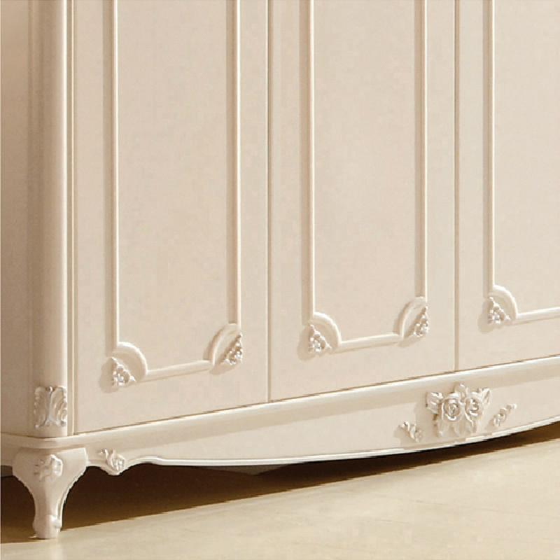 欧式衣橱奢华雕花衣柜宜家四门组合实木衣柜推拉衣柜