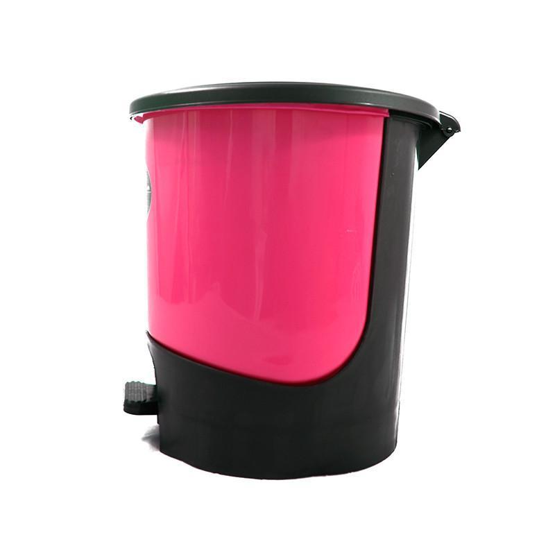 5l脚踏式可手提带盖垃圾桶厨房杂物
