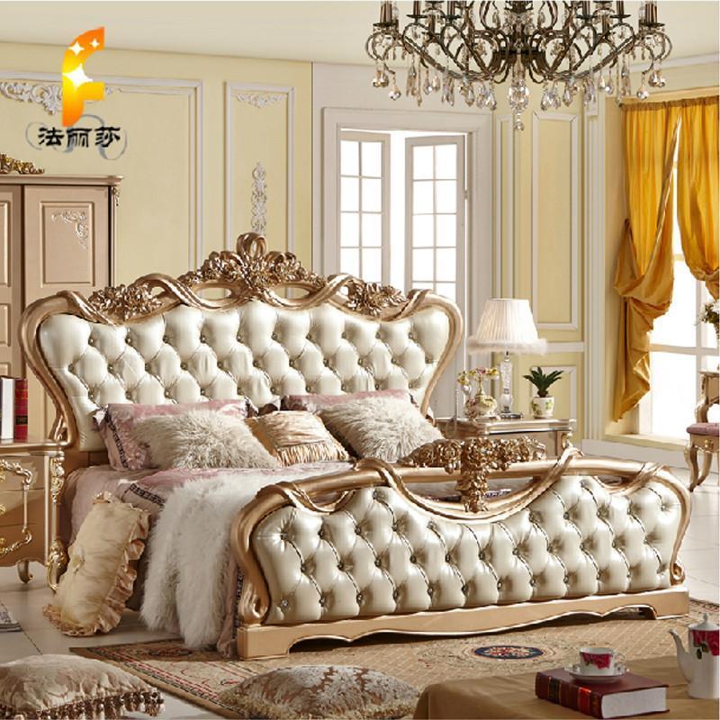 法丽莎家具y1欧式床实木床法式新古典婚床双人床1.8米