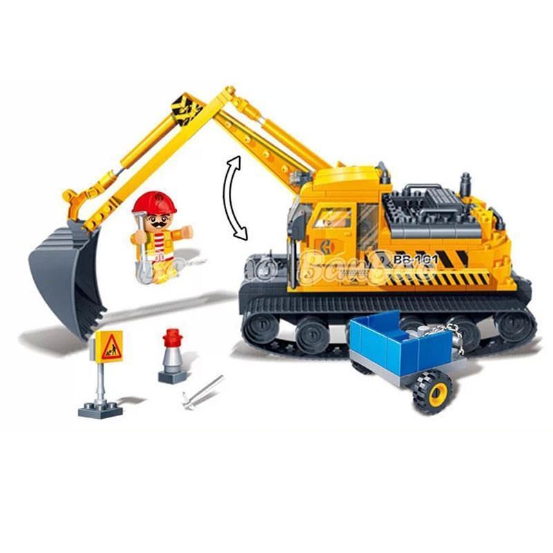挖掘机积木拼图大全步骤图解