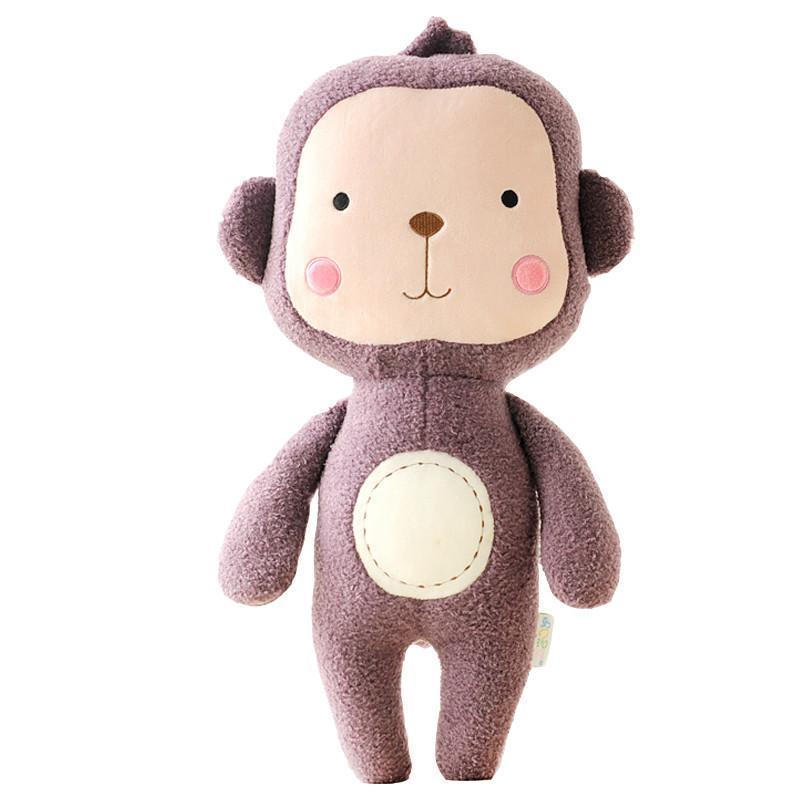 绒言绒语毛绒公仔森林动物系列可爱熊公仔圈圈毛质毛绒玩具抱枕42cm