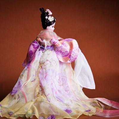关节发条娃娃衣服手工海棠玩具体芭比正品-古装可儿带老玩具仙子图片