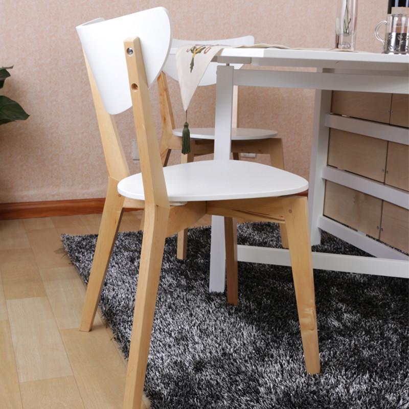 北欧宜家风格桦木餐椅