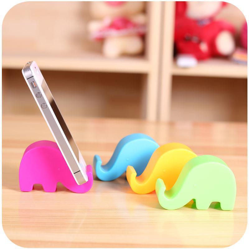 红创 可爱大象支架硅胶手机支架 创意硅胶通用ipad小象手机座