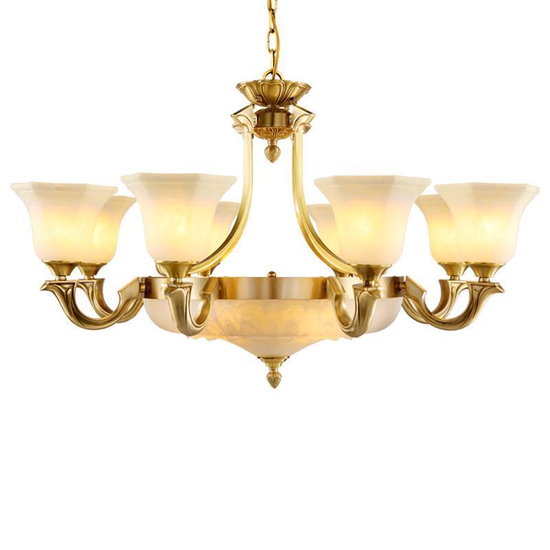 全铜欧式客厅吊灯