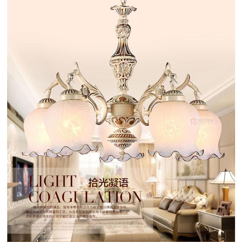 伦灯欧式吊灯客厅灯温馨简约卧室灯田园餐厅灯