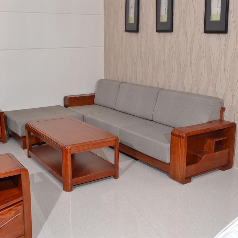 【维森奇居】沙发 客厅沙发 实木沙发 水曲柳木架沙发