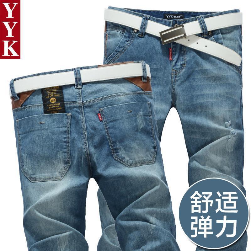 2014新款秋季yykclot潮韩版休闲男裤子牛仔裤男士
