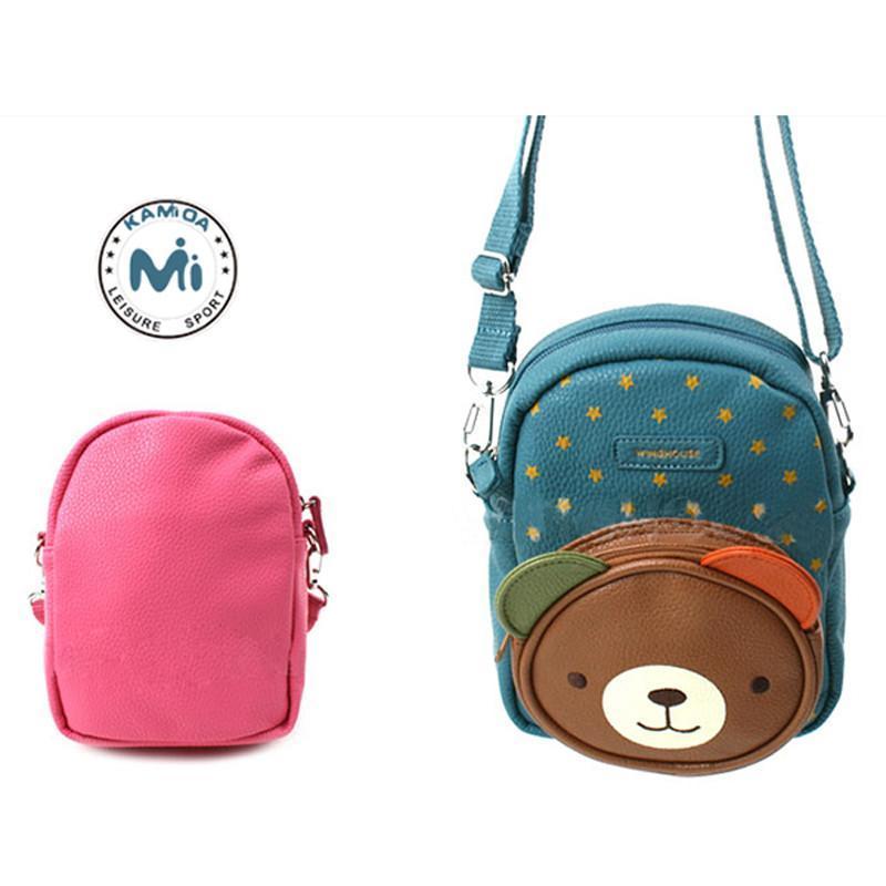 【咔米嗒】新款韩版咔米嗒可爱小熊儿童包包单肩斜零
