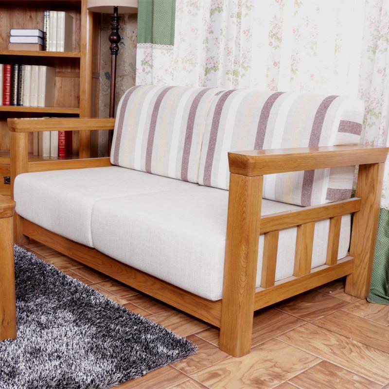 美式乡村风格复古色白橡木沙发