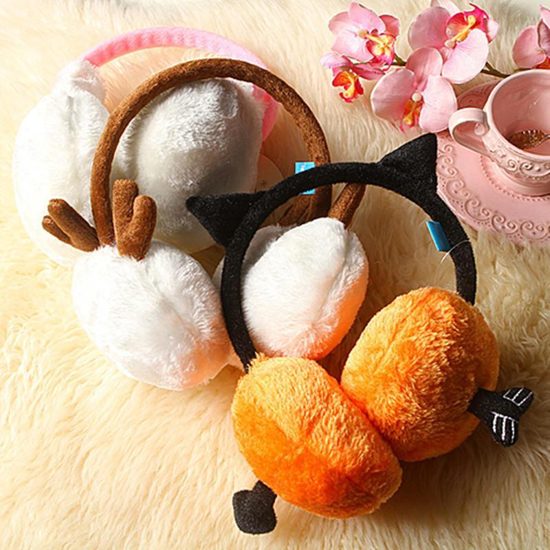 趣玩 超可爱精灵毛绒耳罩-兔耳